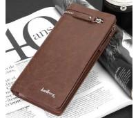 Мужской портмоне клатч Baellery Italia коричневый