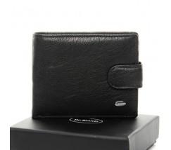Чоловічий гаманець з шкіри чорний