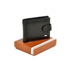 Чоловічий гаманець шкірозамінник чорний
