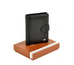 Чоловічий вертикальний гаманець чорний