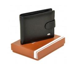 Чоловічий гаманець з шкірозамінника чорний