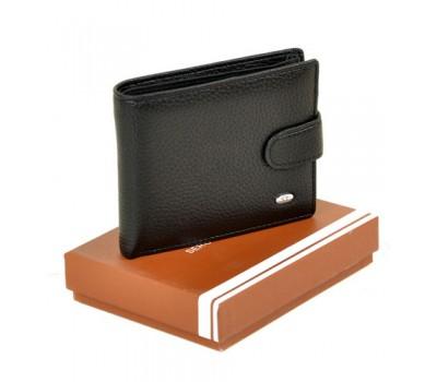 Мужской кошелек с кожзама черный