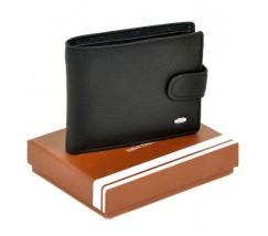 Чоловічий горизонтальний гаманець чорний