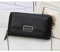 Жіночий гаманець-клатч на ланцюжку чорний