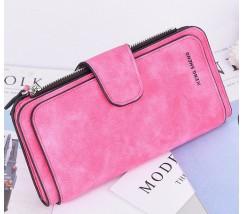 Жіночий гаманець клатч EngSheng Forever  яскраво-рожевий