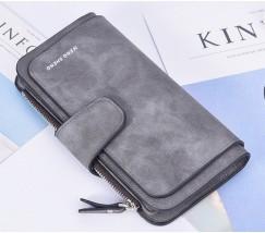 Жіночий гаманець клатч EngSheng Forever темно-сірий