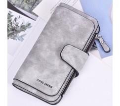 Жіночий гаманець клатч EngSheng Forever світло-сірий