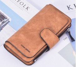 Женский кошелек клатч EngSheng Forever коричневый