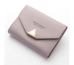 Женский маленький кошелёк на кнопке фиолетовый