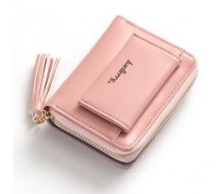 Женский маленький кошелёк на два отделения розовый