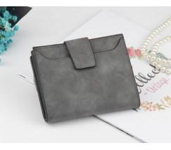 Жіночий маленький гаманець темно-сірий