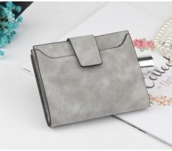 Жіночий маленький гаманець світло-сірий