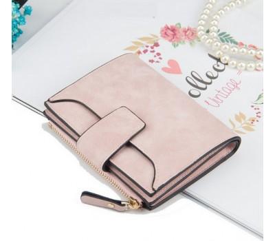 Женский маленький кошелек светло-розовый