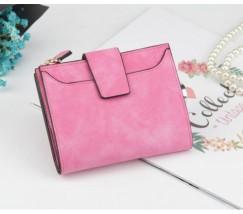 Женский маленький кошелек ярко-розовый