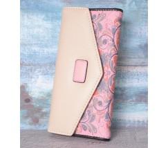 Кошелек женский с узором розовый
