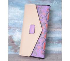 Гаманець жіночий з візерунком фіолетовий