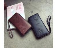 Стильний жіночий гаманець клатч чорний