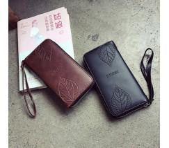 Стильный женский кошелек клатч черный