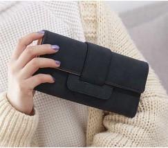 Модний жіночий гаманець-клатч чорний