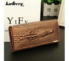 Жіночий гаманець портмоне Крокодил золотий