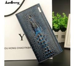Жіночий гаманець портмоне Крокодил синій