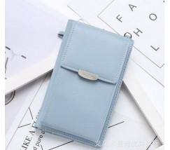 Женский маленький клатч портмоне голубой