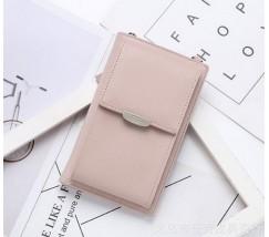 Женский маленький клатч портмоне розовый