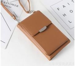 Женский маленький клатч портмоне коричневый
