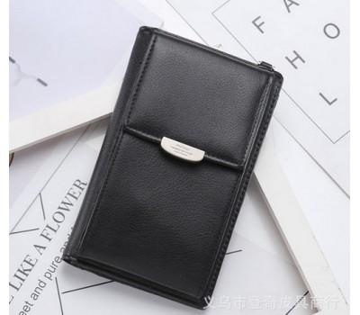 Женский маленький клатч портмоне черный