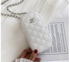 """Жіночий клатч """"Chanel"""" білий"""
