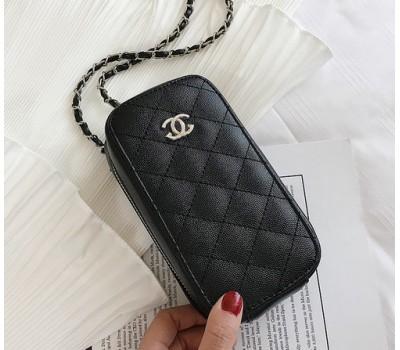 """Женский клатч """"Chanel"""" черный"""