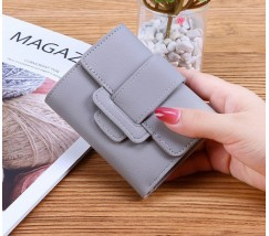 Жіночий маленький гаманець зі шкірозамінника сірий