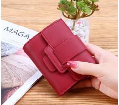 Жіночий маленький гаманець зі шкірозамінника червоний