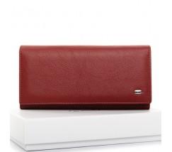 Великий шкіряний жіночий гаманець червоний