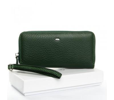 Кожаный женский кошелек портмоне зеленый