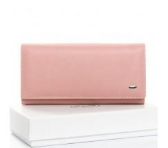 Великий шкіряний жіночий гаманець рожевий