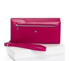 Великий жіночий гаманець фіолетовий з натуральної шкіри