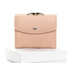 Женский маленький кошелек кожаный розовый