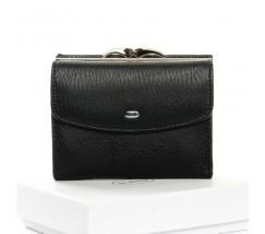 Жіночий маленький гаманець шкіряний чорний