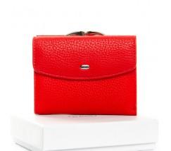 Женский маленький кошелек кожаный красный