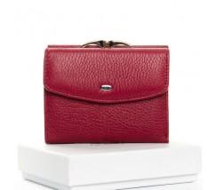 Жіночий маленький гаманець шкіряний бордовий