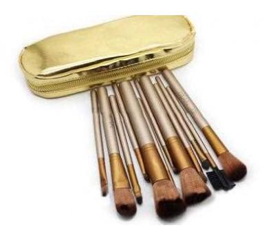 Кисти для макияжа в золотом чехле Naked2