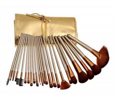 Набор кистей в золотом чехле Naked