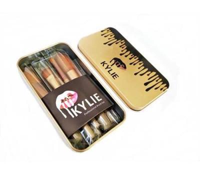 Набор кистей для макияжа KYLIE в металлическом кейсе
