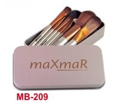 Набор кистей из 7 инструментов в металлическом футляре SILVER maXmaR