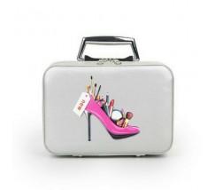 Кейс для косметики Туфелька серый