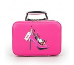 Кейс для косметики Туфелька ярко-розовый