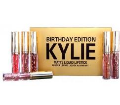 Набор жидких помад Matte Liquid Lipstick Kylie Birthday Edition 6 цветов
