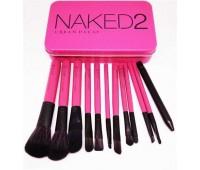Набір пензликів Naked2 12шт (в металевій коробці)