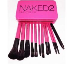 Набор кистей Naked2 12шт (в металлической коробке)
